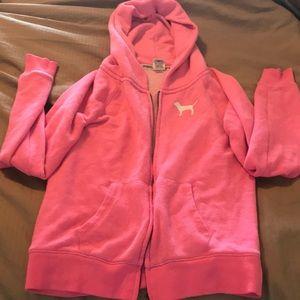 PINK logo hoodie
